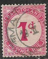 Basutoland, Postage Due, 1938, 1d Scarlet, Used - 1933-1964 Crown Colony