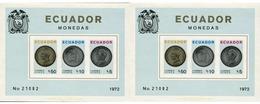Ref. 309226 * MNH * - ECUADOR. 1973. COINS . MONEDAS - Equateur