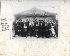 INDRE - CREVANT  - FETE DES ECOLES 1931 TRES RARE PHOTO SUPPORT TRACES ROUSSEURS PHOTO NICKEL - France