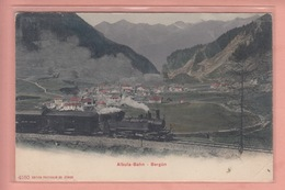 OUDE POSTKAART ZWITSERLAND - SUISSE -  SCHWEIZ -   TREIN - ALBULA BAHN - BERGUN  1900'S - GR Grisons