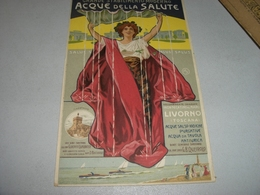 MENU STABILIMENTO MODERNO ACQUE DELLA SALUTE MONTECATINI 1906 - Menu