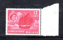 APR878 - SINGAPORE 1955 , Ordinaria Yvert N. 35  ***  MNH  (2380A) . - Singapore (...-1959)