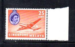 APR1157 - SINGAPORE 1955 , Ordinaria Yvert N. 37  ***  MNH  (2380A) . - Singapore (...-1959)