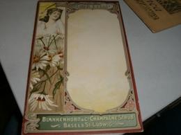 MENU' BLANKENHORN & C.CHAMPAGNE STRUB - Menu