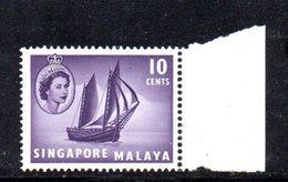APR1230 - SINGAPORE 1955 , Ordinaria Yvert N. 34  ***  MNH  (2380A) . - Singapore (...-1959)