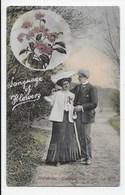 Edwardian Card - Language Of Flowers - Heliotrope  - Devotion - Welch JWS 2704 - Flowers