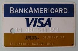 USA - Credit Card - VISA - Bank Americard - Exp 08/83 - Used - Cartes De Crédit (expiration Min. 10 Ans)