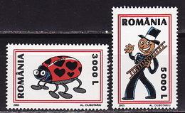 Romania, 2003, Congratulatory Stamps, Valentine's Day, 2 Stamps - 1948-.... Republieken