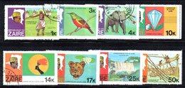 APR1222 - ZAIRE 1978 ,  Yvert N. 926/933  Usata  (2380A) . - Zaire
