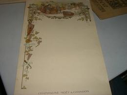 MENU' PUBBLICITARIO CHAMPAGNE MOET & CHANDON - Menu