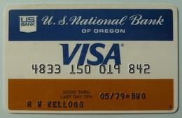 USA - Credit Card - VISA - U S National Bank Of Oregon - Exp 05/79 - Used - Cartes De Crédit (expiration Min. 10 Ans)