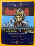 10502 - Empaquetage Du Eichstag De Berlin Par Christo De La Série La Mémoire Du Temps 1995 Humagne Rouge Dessin Giardino - Art