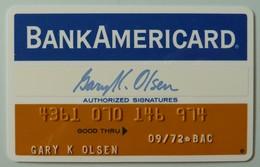 USA - Credit Card - Bank Americard - Exp 09/72 - Used - Krediet Kaarten (vervaldatum Min. 10 Jaar)