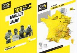 CYCLISME : TOUR DE FRANCE 2019 2 Cartes Postales DOCAPOST PARCOURS Et AFFICHE - Cycling