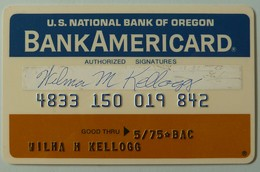 USA - Credit Card - National Bank Of Oregon - Bank Americard - Exp 05/75 - Used - Krediet Kaarten (vervaldatum Min. 10 Jaar)