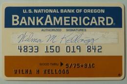 USA - Credit Card - National Bank Of Oregon - Bank Americard - Exp 05/75 - Used - Cartes De Crédit (expiration Min. 10 Ans)