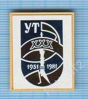 USSR / Badge / Soviet Union / UKRAINE. Ukrainian Television. UT - 30 Years. TV Tower. Kiev. 1951-1981 - Administrations