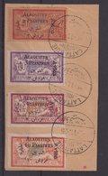 ALAOUITES : PA  . N° 1/4 . OBL . SUR FGT  . 1925 . ( CATALOGUE YVERT ) . - Alaouites (1923-1930)