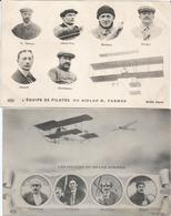 CPA 327-- AVIATION --  10 Pilotes Des Biplans Farman Et Sommer - Postcards