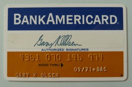 USA - Credit Card - Bank Americard - Exp 09/71 - Used - Cartes De Crédit (expiration Min. 10 Ans)