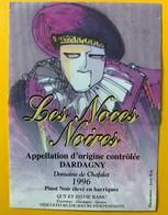 10509 -  Les Noces Noires Pinot Noir De Dardagny 1996 Ilustration Jerry Koh - Art
