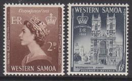 SAMOA, 1953 CORONATION 2 MNH - Samoa