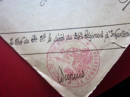 WW1-Lettre S.M-dépôt 34é Régiment Infanterie Cachet Militaire & C.à Date Des Landes Guerre 1914-18 Marcophilie MILITARIA - Postmark Collection (Covers)