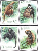 China 2002-27 Monkey Ape Gibbon Animals Set - 1949 - ... República Popular