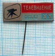 USSR / Badge / Soviet Union / UKRAINE. Ukrainian Television. UT - 20 Years. TV Kiev. 1971. - Administrations