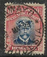 Rhodesia / B.S.A.Co., 1913, GVR, Admiral Head,  10d, Die III, Perf 14, Used - Southern Rhodesia (...-1964)