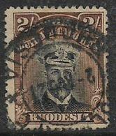 Rhodesia / B.S.A.Co., 1913, GVR, Admiral Head,  2/=, Die III, Perf 14, Used - Southern Rhodesia (...-1964)