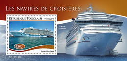 Togo.  2019  Cruise Ships. (0227b)   OFFICIAL ISSUE - Schiffe