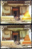 ARCHAEOLOGY- MONGYU MONASTERY- LADDAKH -ERROR-COLOR VARIETY-INDIA-2009- SCARCE- MNH- B9-894 - Buddhism