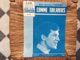 PARTITION MISICALE  *ADAMO  Comme Toujours - Scores & Partitions