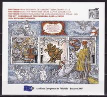 Romania, 2005 European Academy Of Philately, Overprint, Block - 1948-.... Republics
