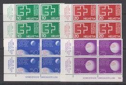 Switzerland 1963 National Swiss Exhibition 4v Bl Of  4 (corner) ** Mnh (43351) - Zwitserland