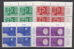Switzerland 1963 National Swiss Exhibition 4v Bl Of  4 (corner) ** Mnh (43351A) - Zwitserland