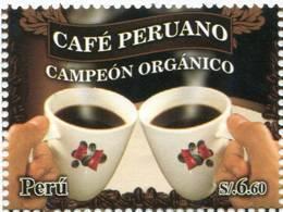 Lote P2011-6, Peru, 2011, Sello, Stamp, Cafe Peruano, Coffee - Perú
