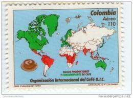 Lote 9i, Colombia, 1989, Cafe , OIC,  Coffee Stamp - Colombia