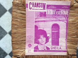 PARTITION MISICALE  *SHEILA  L'Ecole Est Finie - Partitions Musicales Anciennes