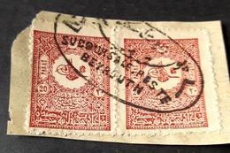 TU - Lebanon Rare Ottoman Cancel : SUCCOURSALE.POSTE BEYROUTH 2 (Escale) - Líbano