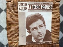PARTITION MUSICALE *RICHARD ANTHONY  La Terre Promise - Partituren