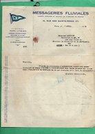 Peniche 1930 Courrier  Des Messageries Fluviales à Mr Linchant Capitaine De La Peniche Automoteur MF 98 - Non Classés