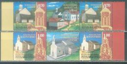 BHRS 2007-388-9 Churches, BOSNA AND HERZEGOVINA-R.SRPSKA, 2 X 2v + Labels, MNH - Christentum