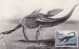San Marino 1966 ELASMOSAURUS Maximum Dinosaurs - Préhistoriques