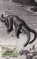 San Marino 1966 BRONTOSAURUS Maximum Dinosaurs - Préhistoriques
