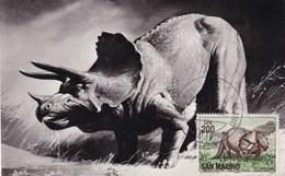 San Marino 1966 TRICERATOPS Maximum Dinosaurs - Préhistoriques