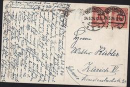 YT 333 Réforme Monétaire 10 Rouge CAD Dortmund 24 5 24 Pour Suisse CP Musikstunde - Briefe U. Dokumente