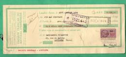 1942 Cheque Lot De 5 Cheques O F M I Levallois Pour Imprimerie Fromentin Louviers Voir 10 Scans Format 28cm X 11,5cm - Chèques & Chèques De Voyage