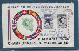 Thème Ski - Jeux Olympiques - Sports - Enveloppe - Ski